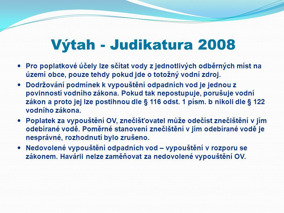 Výtah - Judikatura 2008