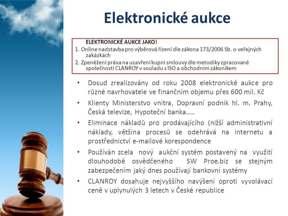 Elektronické aukce ELEKTRONICKÉ AUKCE JAKO! 1. Online nadstavba pro výběrová řízení dle zákona 173/2006 Sb. o veřejných zakázkách.