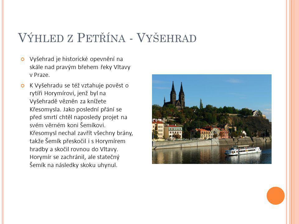 Výhled z Petřína - Vyšehrad