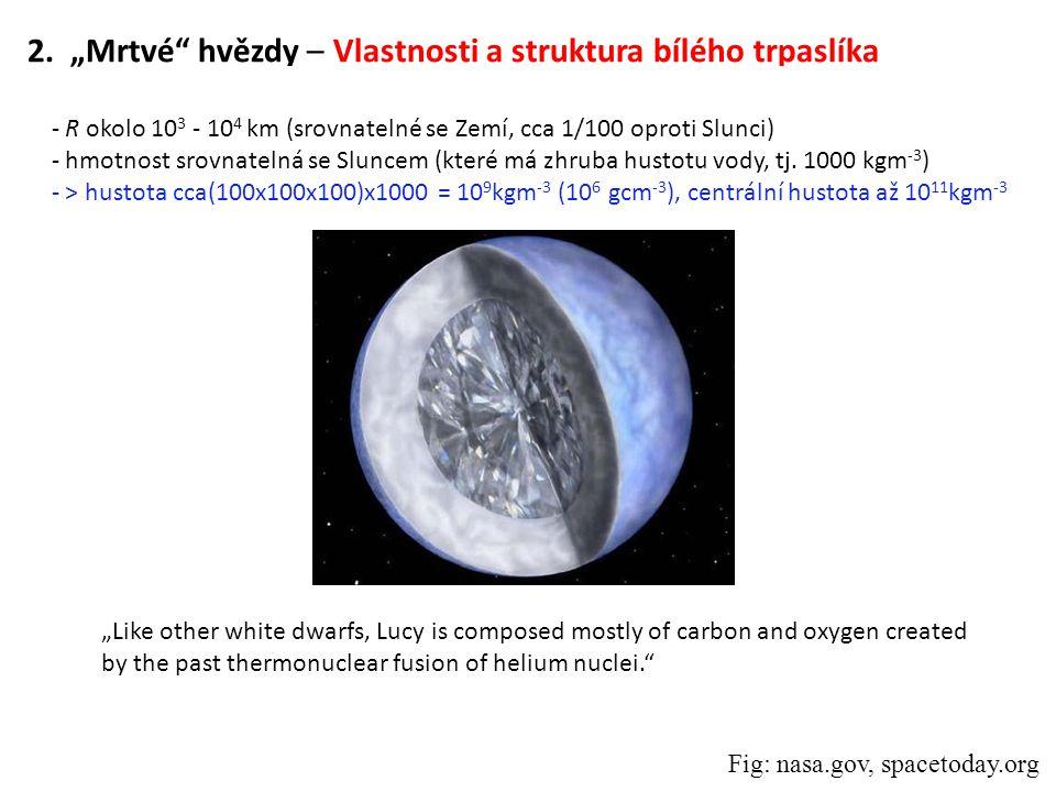"""2. """"Mrtvé hvězdy – Vlastnosti a struktura bílého trpaslíka"""