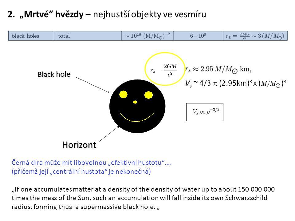 """2. """"Mrtvé hvězdy – nejhustší objekty ve vesmíru"""
