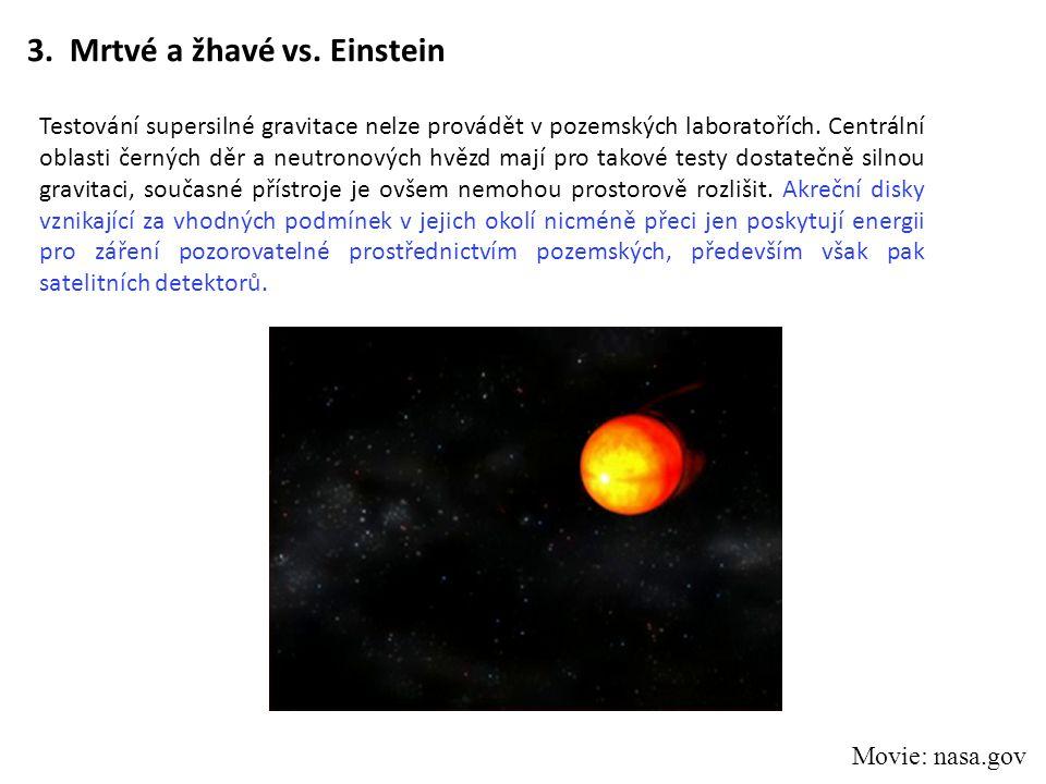 3. Mrtvé a žhavé vs. Einstein