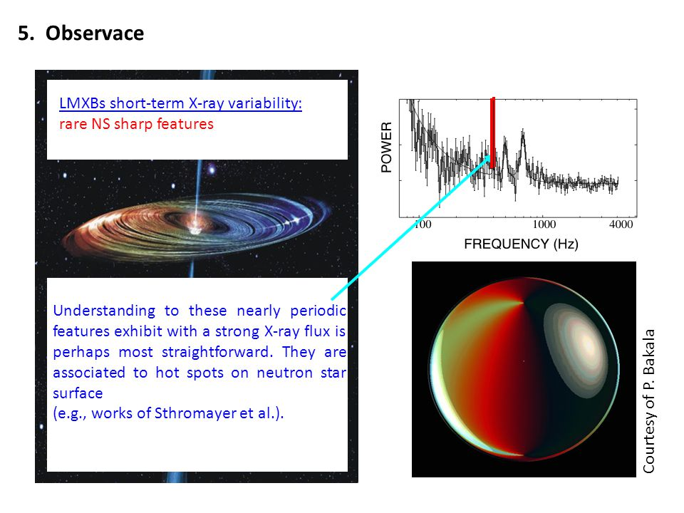5. Observace LMXBs short-term X-ray variability: