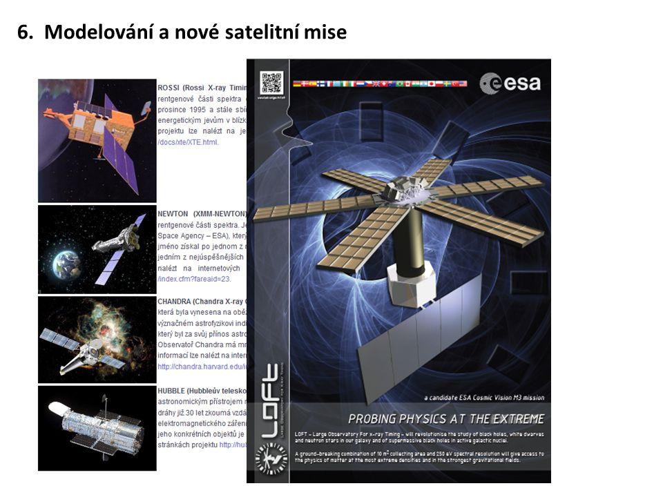 6. Modelování a nové satelitní mise
