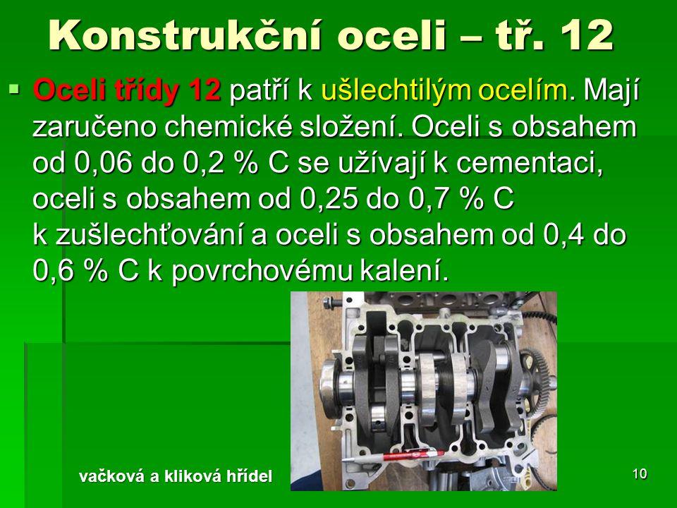 Konstrukční oceli – tř. 12