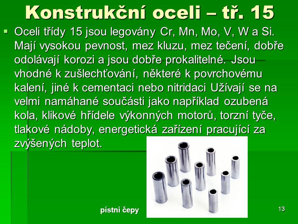 Konstrukční oceli – tř. 15