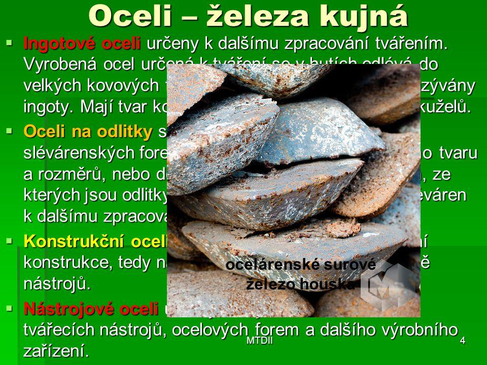 ocelárenské surové železo houska