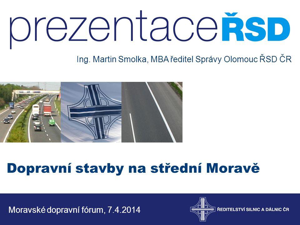 Dopravní stavby na střední Moravě