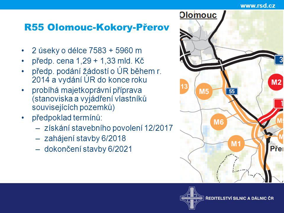 R55 Olomouc-Kokory-Přerov