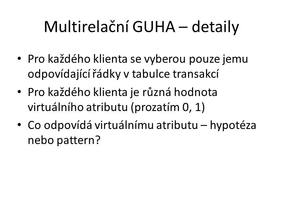 Multirelační GUHA – detaily