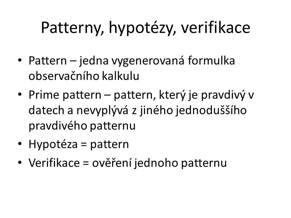 Patterny, hypotézy, verifikace