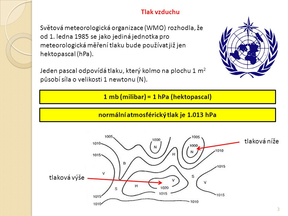1 mb (milibar) = 1 hPa (hektopascal)