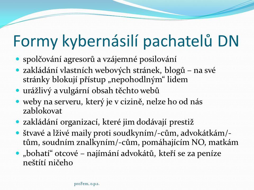 Formy kybernásilí pachatelů DN