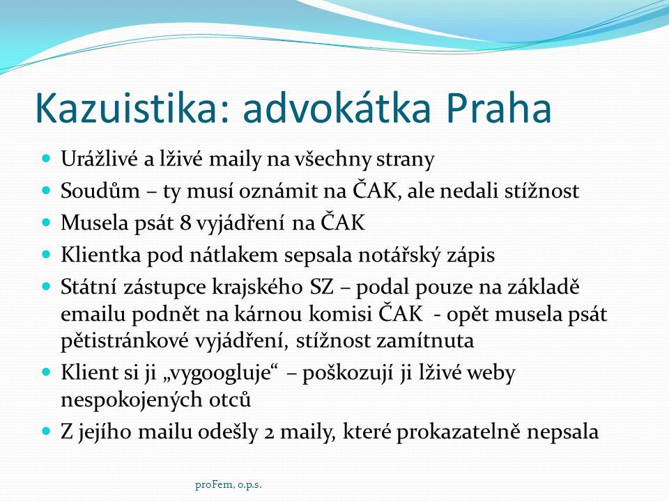 Kazuistika: advokátka Praha