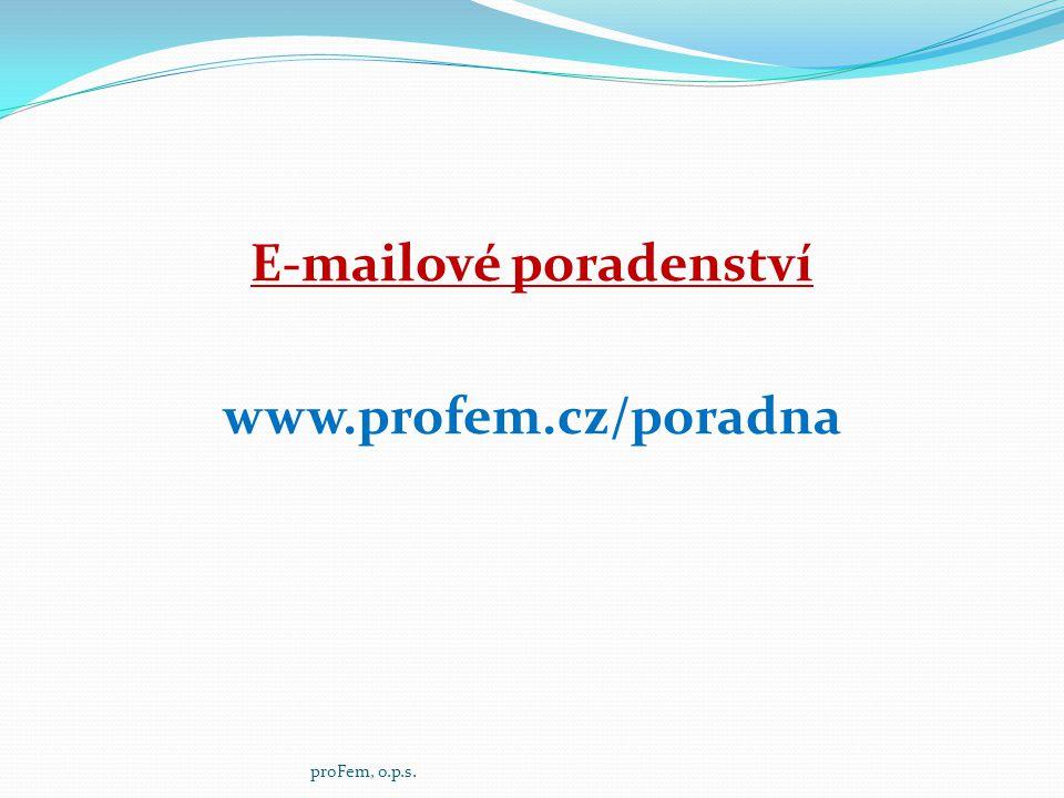 E-mailové poradenství www.profem.cz/poradna