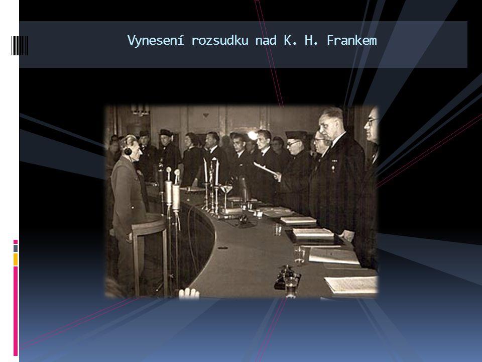 Vynesení rozsudku nad K. H. Frankem
