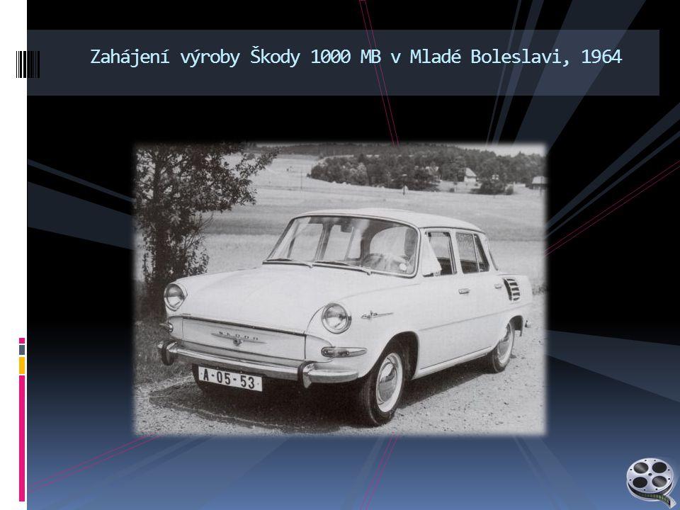 Zahájení výroby Škody 1000 MB v Mladé Boleslavi, 1964