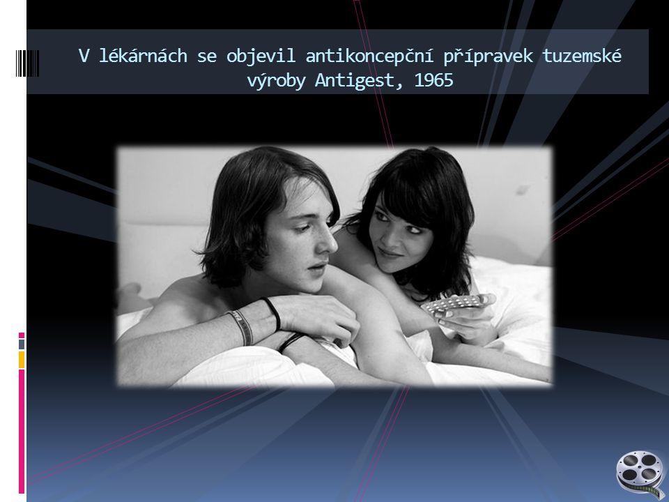 V lékárnách se objevil antikoncepční přípravek tuzemské výroby Antigest, 1965