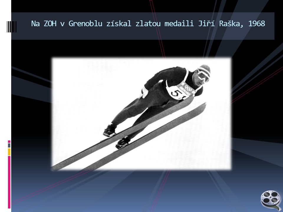 Na ZOH v Grenoblu získal zlatou medaili Jiří Raška, 1968