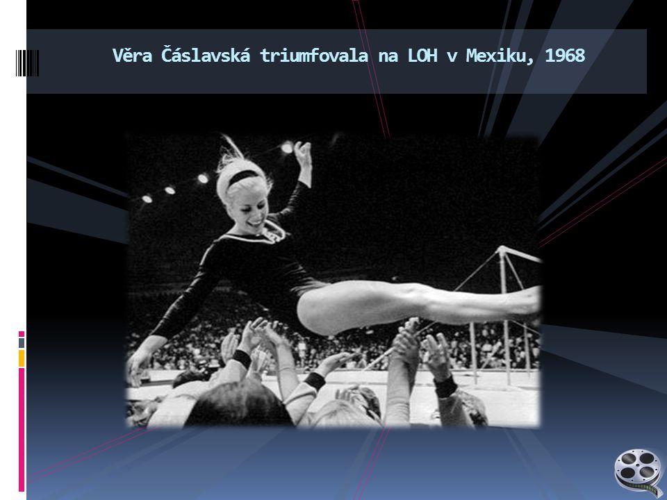 Věra Čáslavská triumfovala na LOH v Mexiku, 1968