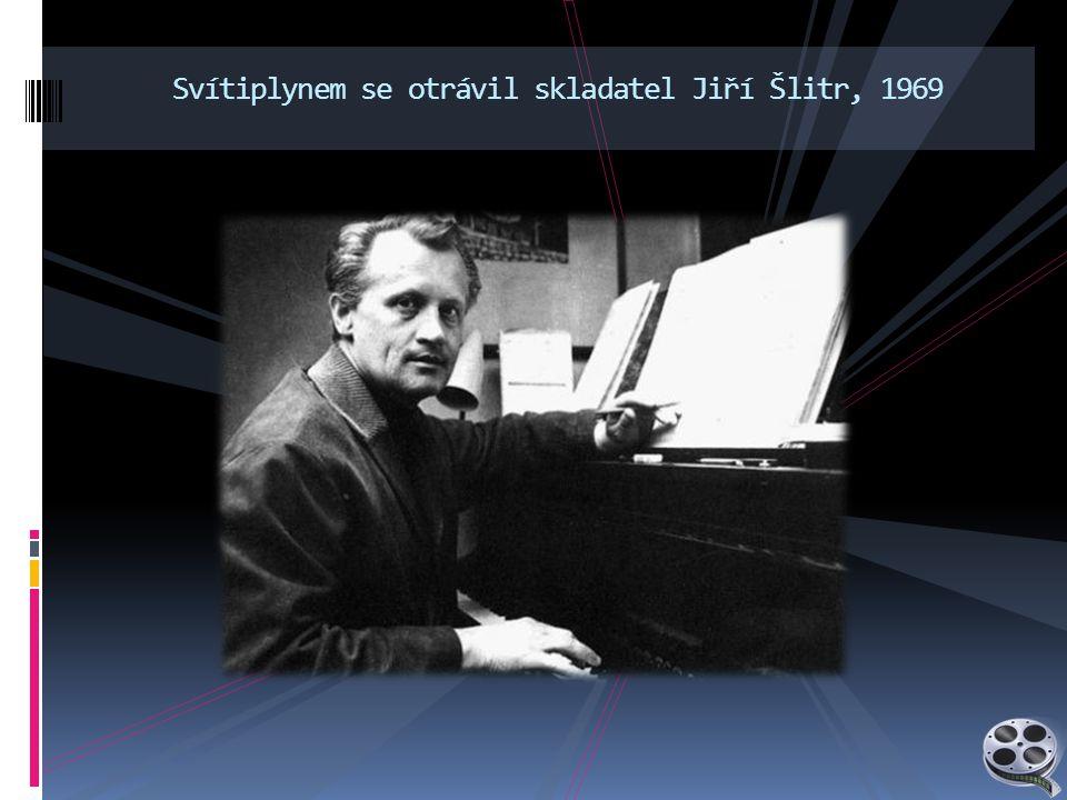 Svítiplynem se otrávil skladatel Jiří Šlitr, 1969