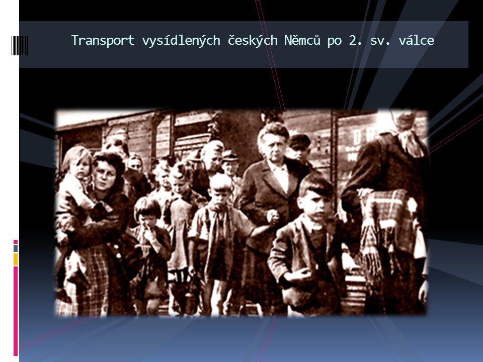 Transport vysídlených českých Němců po 2. sv. válce