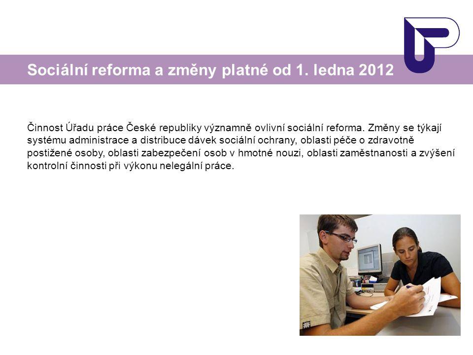 Sociální reforma a změny platné od 1. ledna 2012