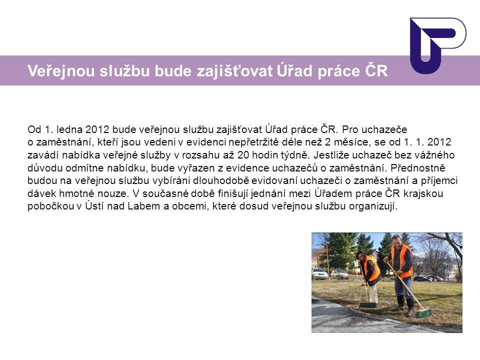 Veřejnou službu bude zajišťovat Úřad práce ČR