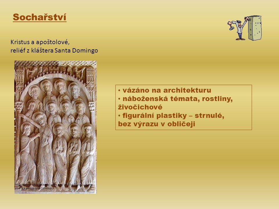 Sochařství Kristus a apoštolové, reliéf z kláštera Santa Domingo