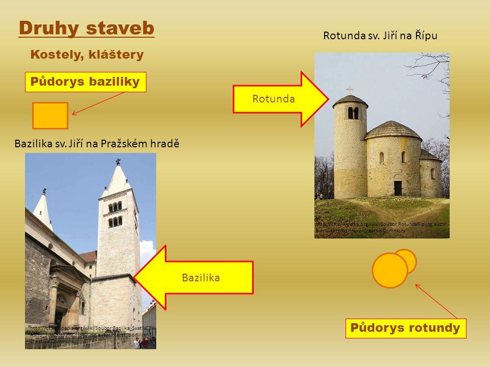 Druhy staveb Rotunda sv. Jiří na Řípu Kostely, kláštery