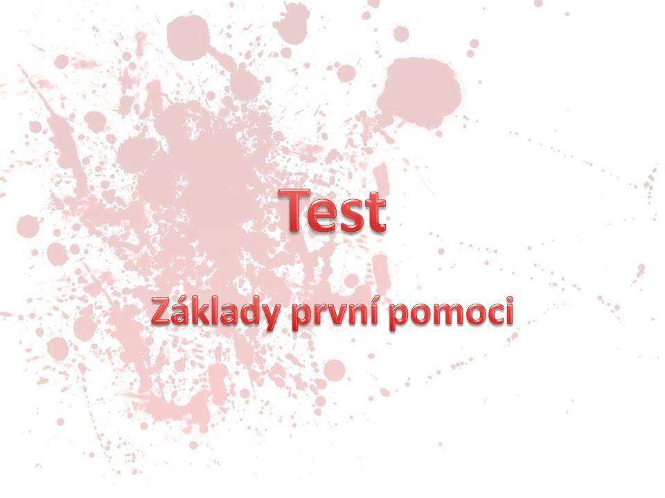 Test Základy první pomoci