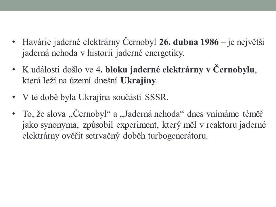 Havárie jaderné elektrárny Černobyl 26