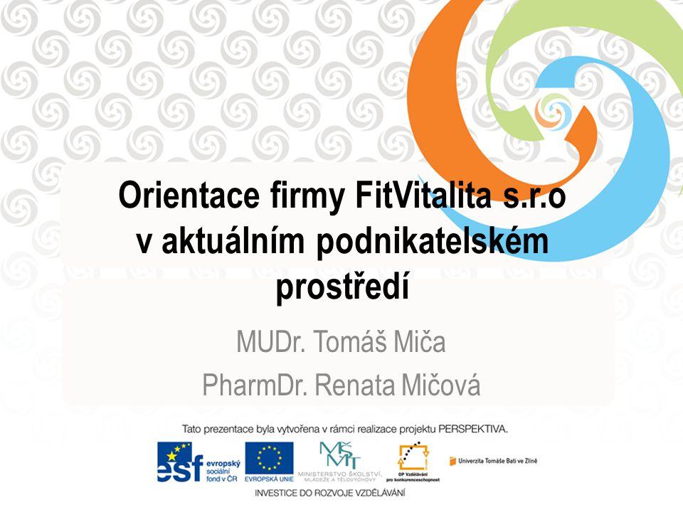 Orientace firmy FitVitalita s.r.o v aktuálním podnikatelském prostředí
