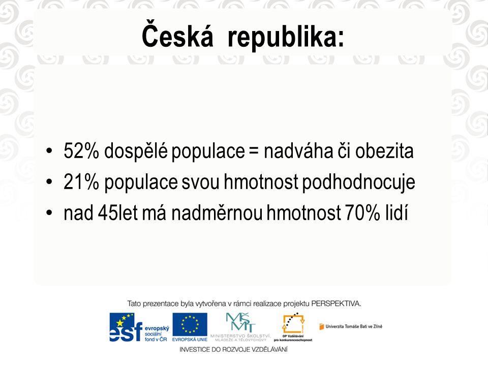 Česká republika: 52% dospělé populace = nadváha či obezita