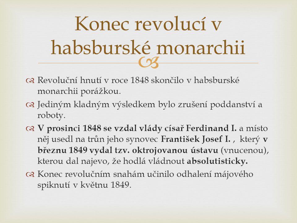 Konec revolucí v habsburské monarchii