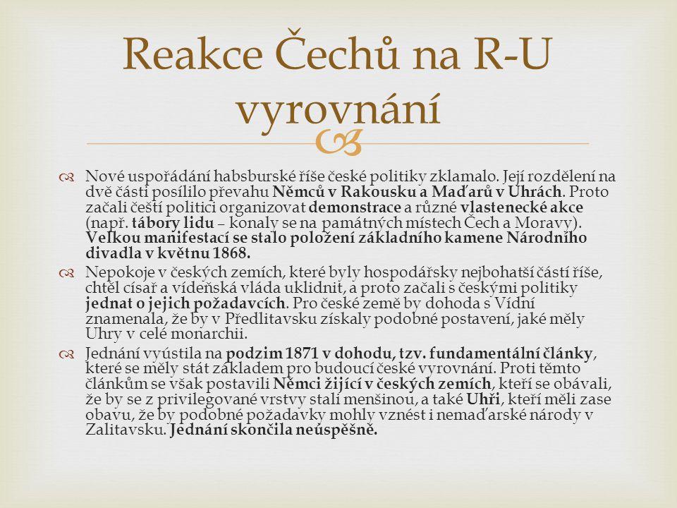 Reakce Čechů na R-U vyrovnání