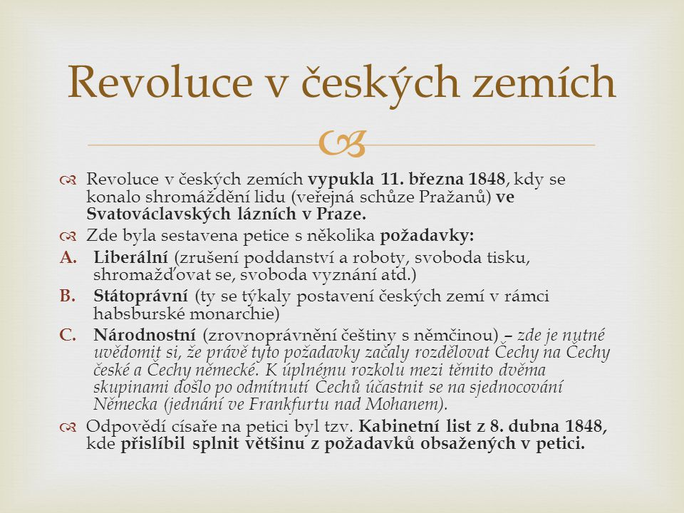 Revoluce v českých zemích