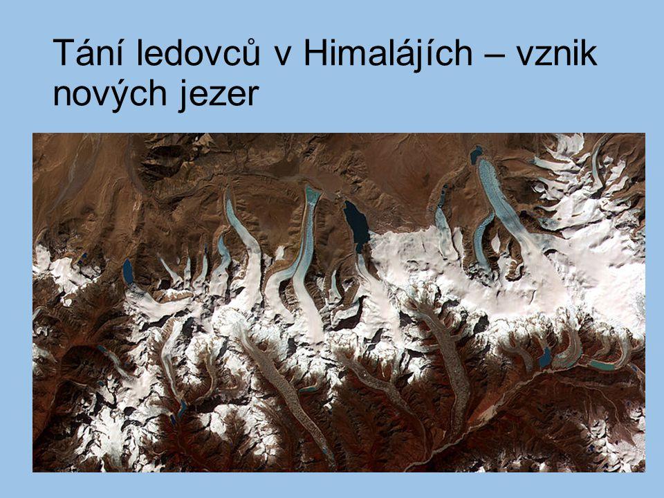Tání ledovců v Himalájích – vznik nových jezer