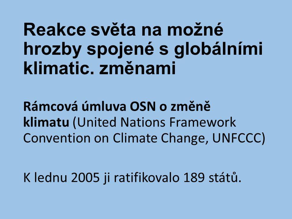 Reakce světa na možné hrozby spojené s globálními klimatic. změnami