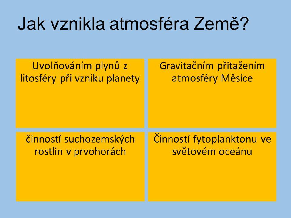 Jak vznikla atmosféra Země