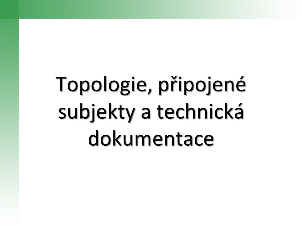 Topologie, připojené subjekty a technická dokumentace