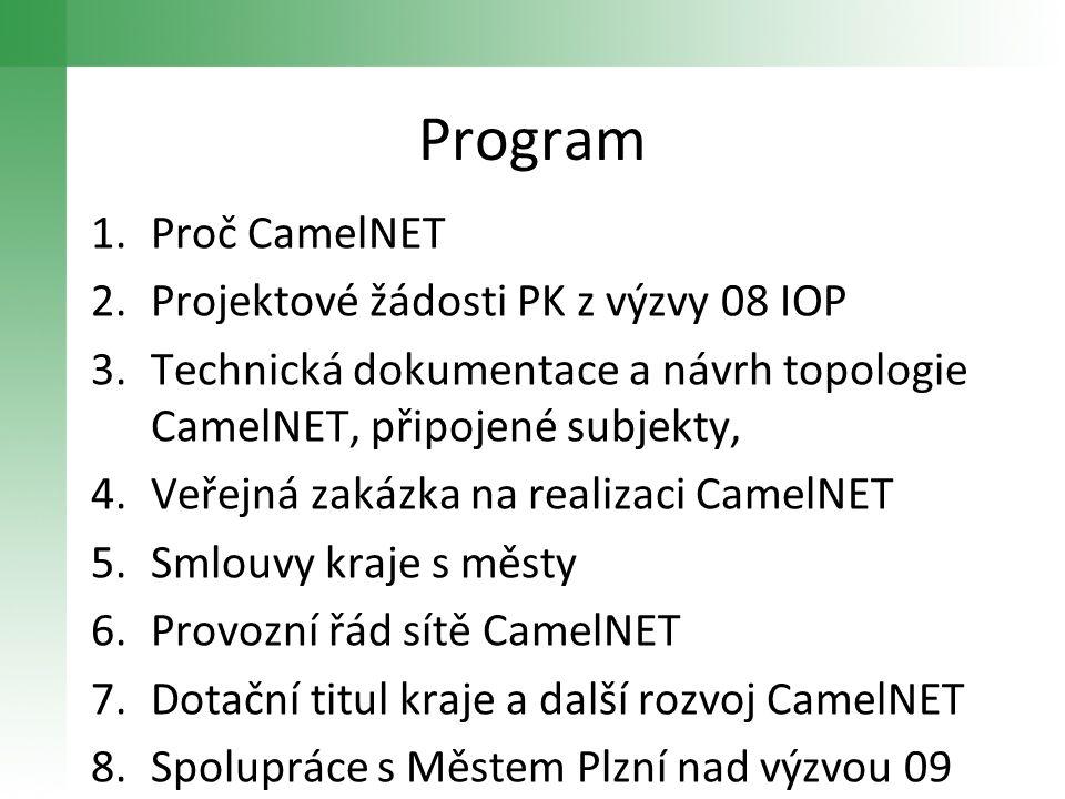 Program Proč CamelNET Projektové žádosti PK z výzvy 08 IOP
