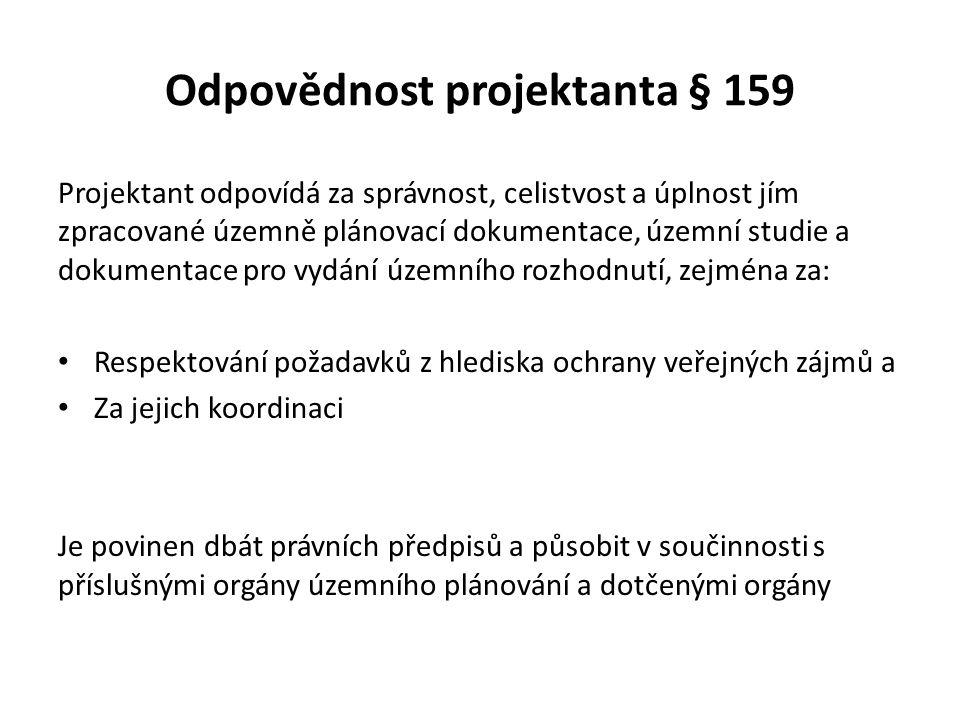 Odpovědnost projektanta § 159