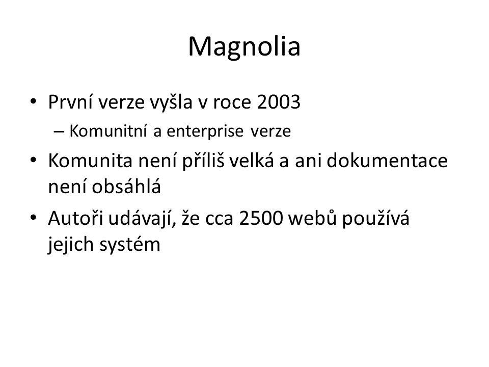 Magnolia První verze vyšla v roce 2003