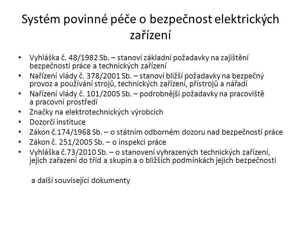 Systém povinné péče o bezpečnost elektrických zařízení
