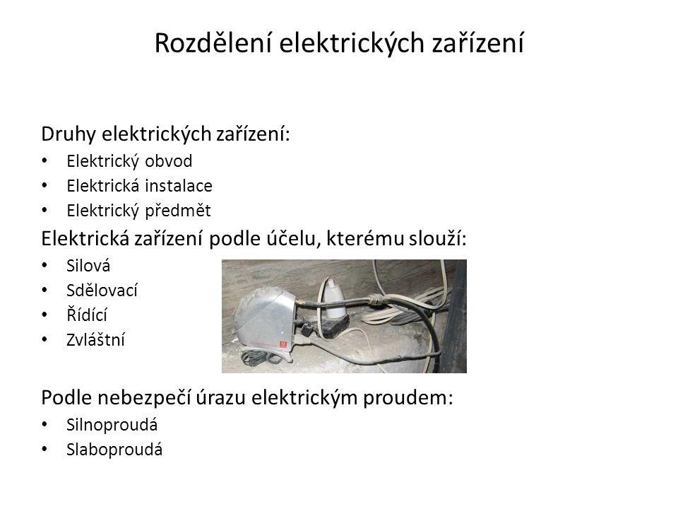 Rozdělení elektrických zařízení