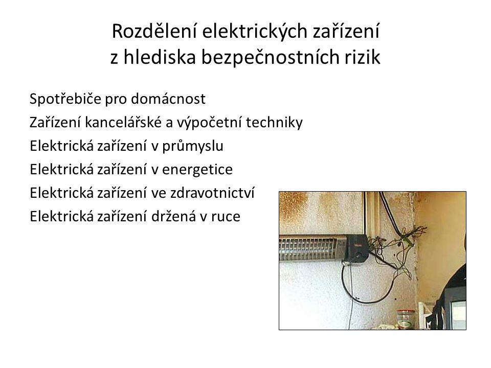 Rozdělení elektrických zařízení z hlediska bezpečnostních rizik