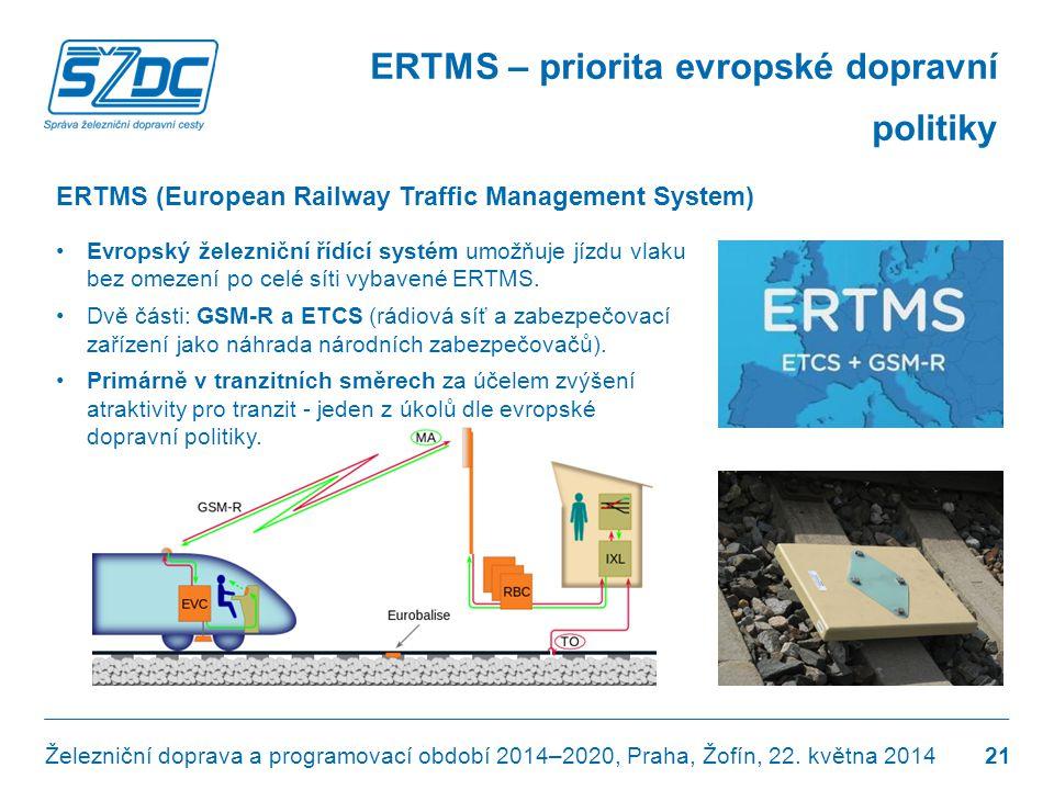 ERTMS – priorita evropské dopravní politiky