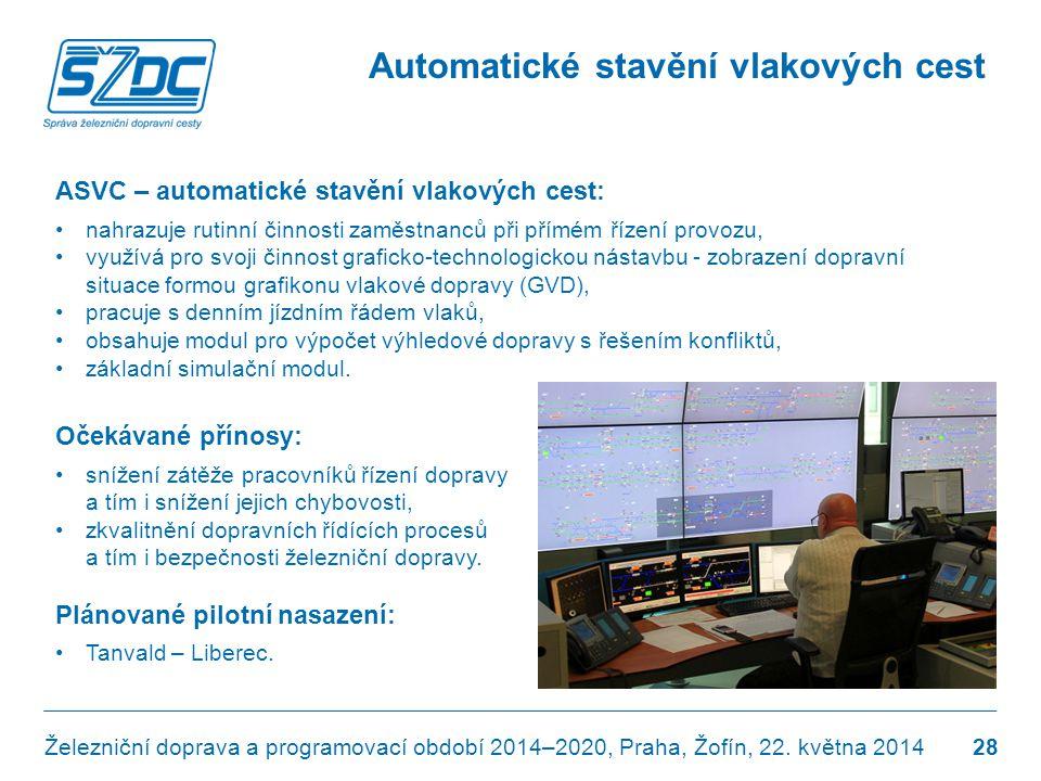 Automatické stavění vlakových cest