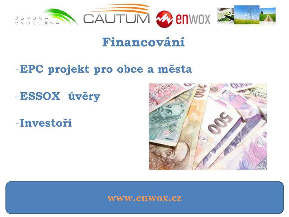 Financování EPC projekt pro obce a města ESSOX úvěry Investoři